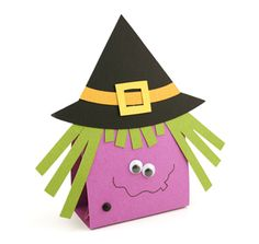 Witch treat bag halloween trick or treat school party favors candy