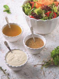3 vinaigrete Eat The Rainbow, Food Decoration, Salad Bar, Greek Recipes, Summer Salads, Soul Food, Food Network Recipes, Food To Make, Food And Drink