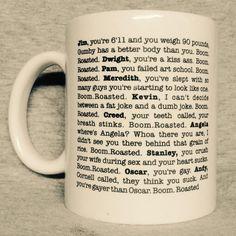 Michael Scott/'s Boom Roasted Speech Travel Mug 15 Oz The Office Vacuum Bottle