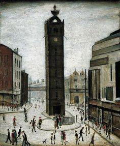The Tollbooth, Glasgow, Scotland, United Kingdom, 1947, by L. S. Lowry.