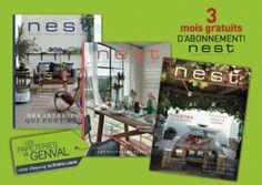 3 mois gratuit pour la magazine Nest http://ift.tt/1Tv3Rmb