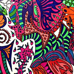 Adult Coloring, Coloring Books, Sharpie Art, Wild Child, 2 Colours, Doodle Art, Zentangle, Psychedelic, New Books