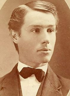 """This very handsome young man's name was """"Allison Ebenezer"""" but he went by """"A."""" - guess even in the those names didn't fit him. Victorian Photos, Sports Pictures, Guy Names, Edwardian Era, Character Aesthetic, Young Man, Cute Guys, First Love, The Past"""