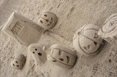 """""""Halloween sand sculptures at Corona Del Mar Beach, CA,"""" photo by photography-prints"""