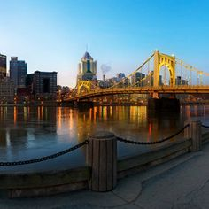 #pittsburgh #bridge #riverNorth Shore in Downtown Pittsburgh