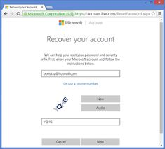 Can I Reset/Recover My Lost Hotmail Email Account? Reset Password, Forgot My Password, Easy Passwords, Browser Support, Tech Support, Account Recovery, Tech Deck, Microsoft Corporation