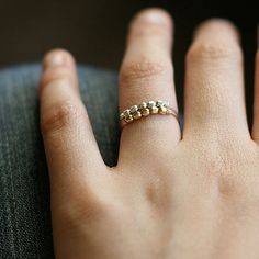libra ring set - gold and silver ring set - stacking rings - two ultra light beaded rings - mixed me