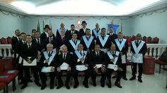 RITO    BRASILEIRO   DE MAÇONS ANTIGOS LIVRES E ACEITOS - MM.´.AA.´.LL.´.AA.´.: IRMAOS DA LOJA CAMPOS ELISIOS Nº 3977 VISITAM O RI...