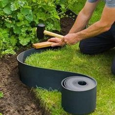Garden Edging Ideas Cheap, Garden Yard Ideas, Garden Border Edging, Garden Borders, Back Garden Design, Backyard Garden Design, Front Garden Landscape, Landscape Design, Landscaping With Rocks