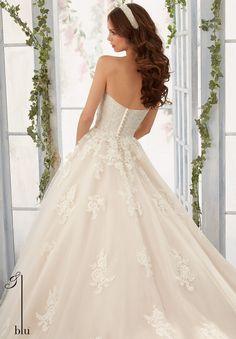 Mori Lee Blu 5406 Wedding Dress