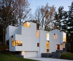 Asymmetrisches Betonhaus moderne-Architektur