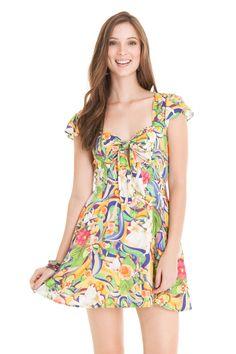 Vestido nó estampa margarita - Vestidos | Dress to