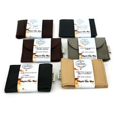 MariClaro, Leather Wallets from car seat leather at The Purple Pomegranate