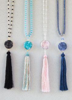 Long Tassel Necklace DIY Cherry Tree Beads