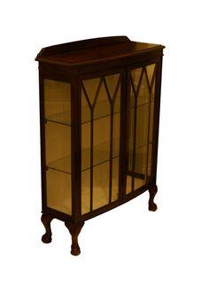 Gorgeous Oak Display Cabinet Edwardian with Glass, 2 shelf , Antique Furniture | eBay