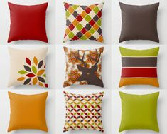 Throw Pillow Covers Fall Home Decor Autumn Room by HLBhomedesigns