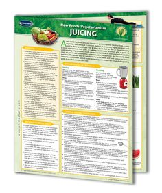 Juicing - You know all about juicing health benefits and the benefits of living and raw food. You even purchased a juicer to maximize your raw food nutrition. Now it's time to put your knowledge and the juicer to good use. Try some new juicing recipes and start enjoying the juicing benefits. In this Raw Foods Vegetarianism Juicing guide, you will learn....
