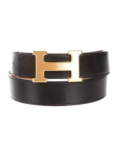 #HERMES | Noir and Gold Box leather Hermès reversible 32mm belt kit with tonal and contrast stitching and brushed gold-plated peg-in-hole buckle closure. Blind stamped Square T from 2015. Includes box.