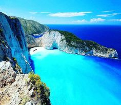 Navagio / Shipwreck Beach (Greece) - This beautiful bay is named so after a smuggler ship was wrecked on the beach while transporting cigarettes. The crashed ship can still be admired while smoking a cigarette on this whitesand beach. - Want to discover more hidden gems in Europe? All of them can be found on www.mapiac.com