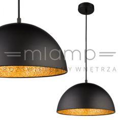LAMPA wisząca OKKO 15166S Globo czarna złota