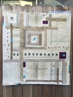 Linen Crossings Jibberish Designs Improve low volume with circle quilting