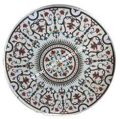 Buy Pietra dura marble inlay products from www.marbleitem.com  #table #marble #inlay #art #design #home #decor #love #beauty #handicraft #diningtable #buynow #shop #sweet #pietradura #agra #makrana #decorative #sidetable #cofee #cofeetable #flowertable #heart