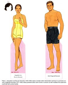 jackie kennedy paper dolls | John F. Kennedy and his wife Jackie: