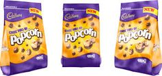 Kraft-owned Cadbury has expanded its sharing bag portfolio with a chocolate-coated toffee popcorn product, in a bid to burst into the UK's rattling popcorn market. Cadbury Chocolate, Selection Boxes, Confectionery, Brand Names, Snack Recipes, Chips, Popcorn, Food, Snack Mix Recipes
