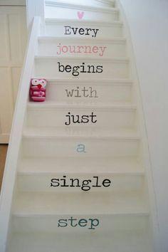 #Escalera con mensaje #Escaleras_decoradas #Decorated_stairs