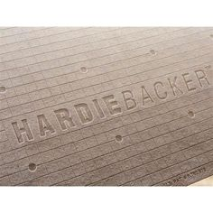 James Hardie HardieBacker 3 ft. x 5 ft. x 1/4 in. Cement Backerboard-220022 - The Home Depot
