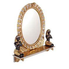 Design Toscano King Amenhotep Egyptian Vanity Mirror - 31.5W x 31H in. - NE64386