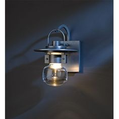 Mason Natural Iron One-Light Small Outdoor Wall Sconce with Clear Glass - (In 20 - Natural Iron)