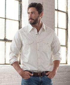 Men's Ryan Michael Whip Stitch Gabardine Shirt at Maverick Western Wear