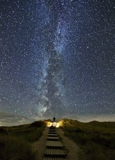 The Milky Way, seen from Island Sylt, North Sea Coast