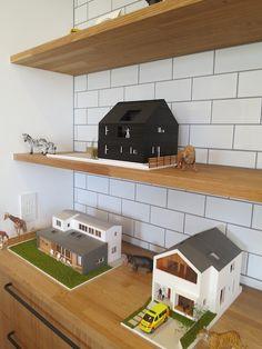 オープンハウス - Johnson House – - 名古屋市の住宅設計事務所 フィールド平野一級建築士事務所 Scale Model Architecture, Architecture Plan, Minimalist Architecture, Contemporary Architecture, Cardboard Model, Art Studio At Home, Arch Model, Barbie House, Small House Plans