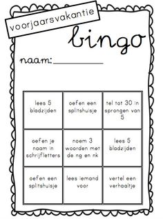 Vakantiebingo van juf Linda groep 3 School S, School Hacks, Grade 1, First Grade, Best Teacher, Kids Education, Bingo, Circuit, Parenting