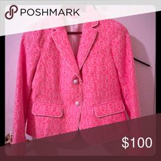 Academy Blazer; Pink and White; Brand New! Pink and White Academy Blazer in perfect condition! Academy Blazer Jackets & Coats Blazers