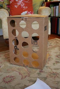 * Cardboard Box Punch-Out Birthday Party Surprise Board