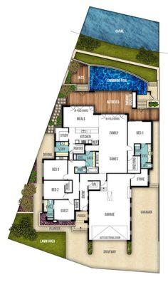 Single Storey House Design Plan - The Moore (4bed, 2bath, 2car ...