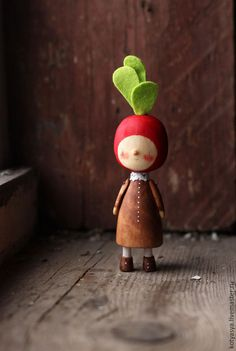 Человечки ручной работы. Ярмарка Мастеров - ручная работа. Купить Редиска. Handmade. Разноцветный, кукла, деревянная, игрушка, редиска, овощи