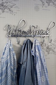 Rivièra Maison Webstore - accessoires | Ophangartikelen | Kapstokken | Coatrack Welcome Friends - 44,95