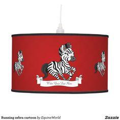 Running zebra cartoon hanging lamp