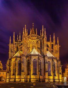 Prague by night   The Lightorialist - St. Vitus Cathedral In Prague