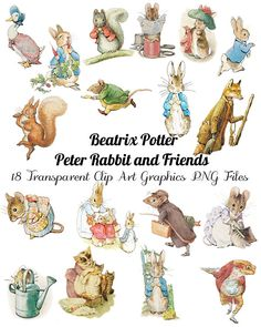 Beatrix Potter Vinyl Wall Decals Printables Beatrix