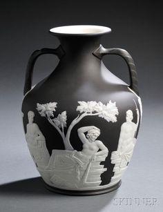Wedgwood Black Jasper Dip Portland Vase, England, late 19th century