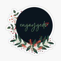 Engayged sticker / shirts for gay, lesbian, queer, lgbtq+, For the holidays and all holigays with a little Christmas design of greenery leaves and mistletoe. Casual Wedding Attire, Lesbian, Gay, Christmas Design, Mistletoe, Sticker Design, Top Artists, Announcement, Greenery