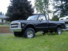 1969 Chevy Truck Lifted black