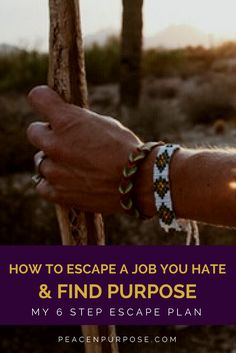 Learn the exact 6 steps that I took to escape the job I hated and find work I love.