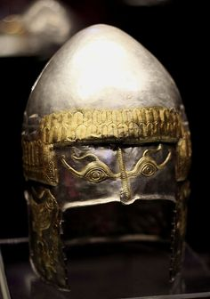 TheHelmet of Peretu, a Geto-Dacian silver helmet dating from the 5th century BC. It was found in the Peretu area, Romania.