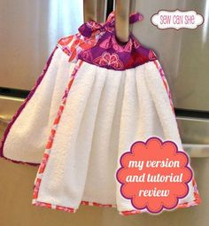 Sewing Tutorials Free My version of Sherri's Sew Handy Fridge Towels — Sew Can She Sewing Hacks, Sewing Tutorials, Sewing Crafts, Sewing Projects, Sewing Tips, Dish Towels, Hand Towels, Tea Towels, Dish Towel Crafts
